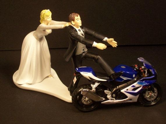 funny motorcycle r  Come Back SUZUKI GSX r Bride and Groom Funny Motorcycle | Etsy