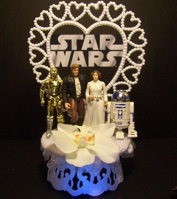 Star Wars Prinzessin Leia Han Solo R2d2 C 3po Hochzeitstorte Etsy