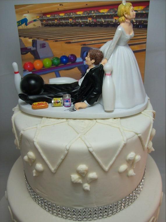 Lustige Hochzeitstorte Topper Bowling Bowler Ball Pins Etsy