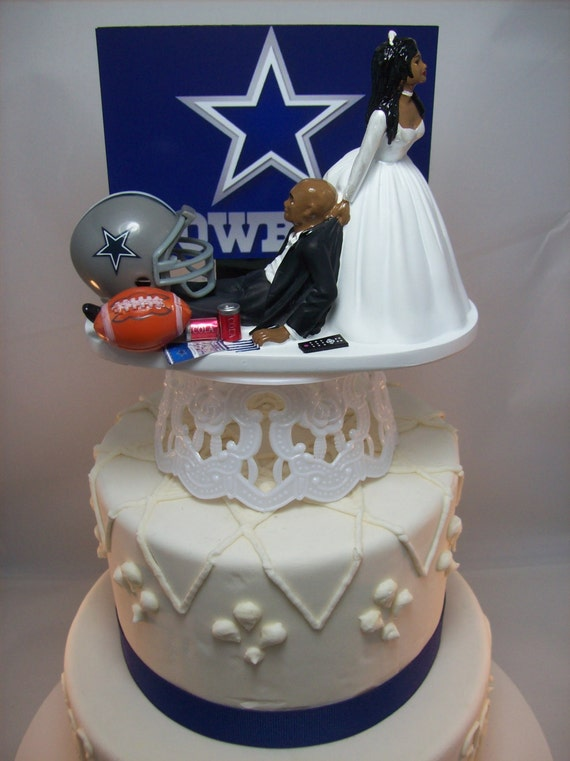 wedding cake toppers dallas tx dallas cowboys football and groom american 26447