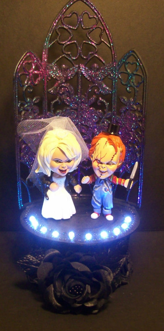 Chucky And Tiffany Wedding Cake Topper Gothic Bride Of