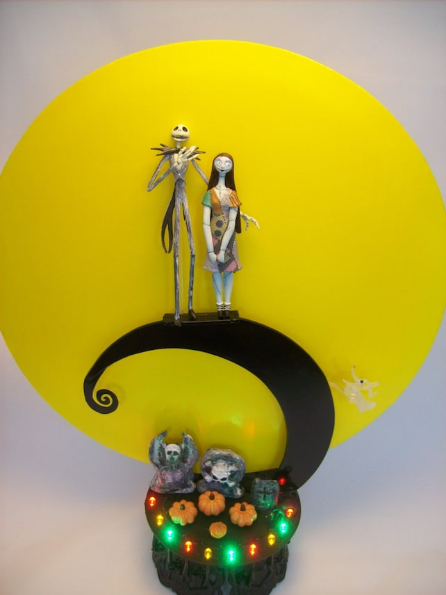 Nightmare Before Christmas Jack and Sally Spiral Hill Bride | Etsy