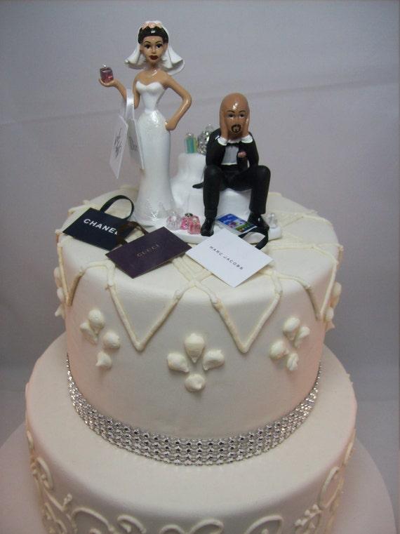 Still Shopping African American Wedding Cake Topper