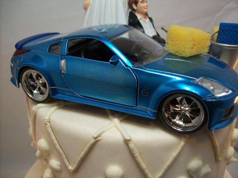 Funny Car Wash 2003 Nissan 350z Blue Auto Wedding Cake Topper Etsy