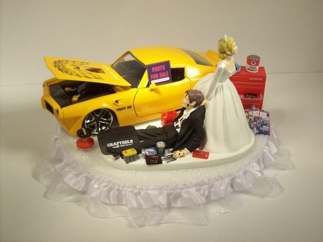 AUTO Mechanic Bride and Groom 1972 Pontiac FIREBIRD Trans Am | Etsy