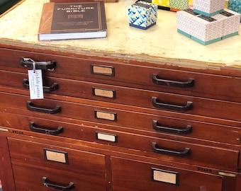 Flat file cabinet etsy william vintage flat file file cabinet malvernweather Images