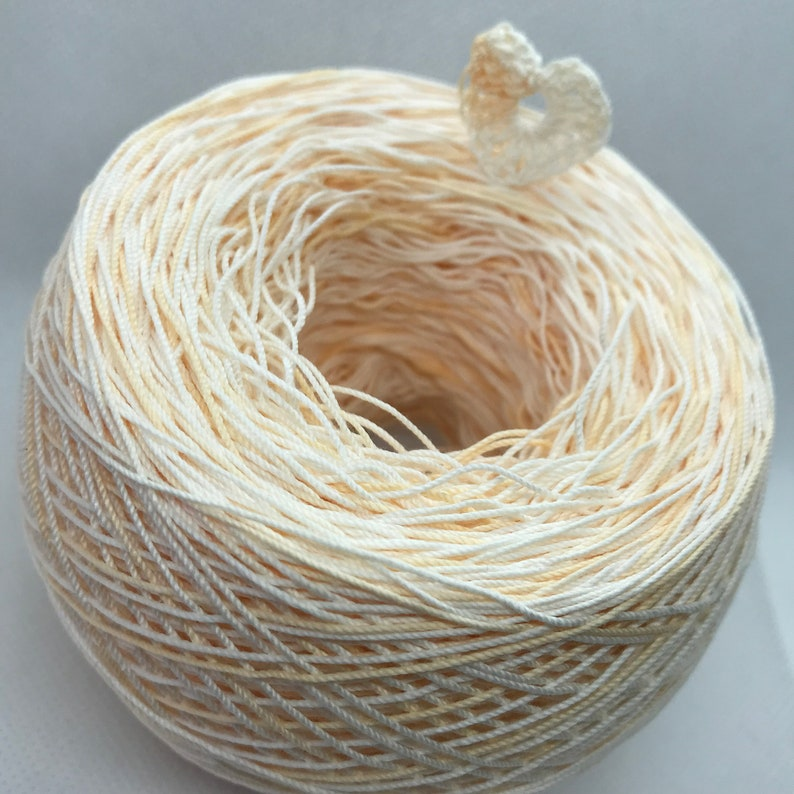 Crochet Cotton Hint of Peach Size 10 Hand Dyed Your Choice of Amount