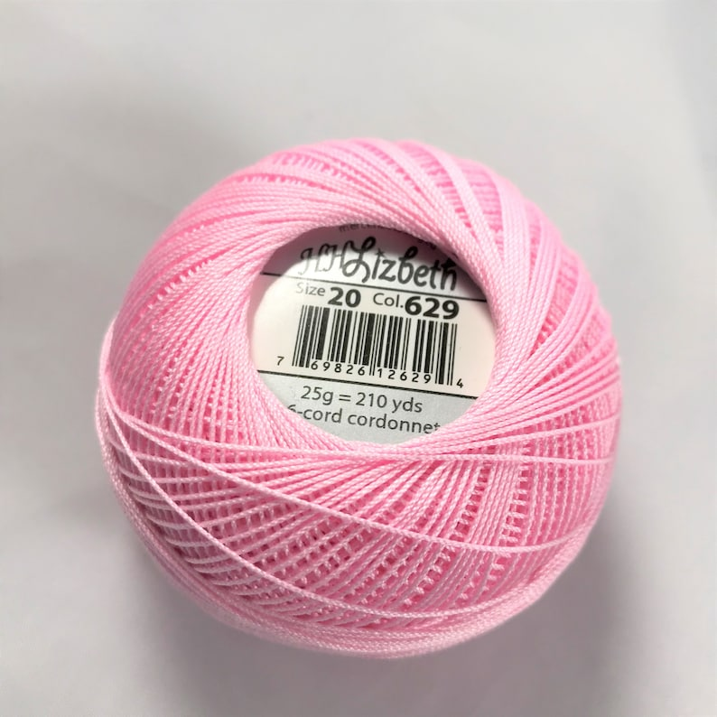 Lizbeth Tatting Thread Solid Light Azalea 629 Size 20 Or 40 Made By Handy Hands You Choose The Amount