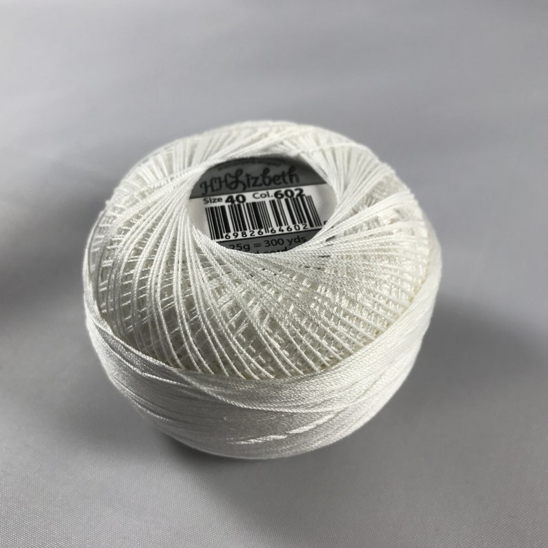 Size 40 Your Choice of Amount Natural Lizbeth Tatting Thread 602