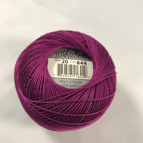 Lizbeth Tatting Thread Size 40 Dark Lilac Handy Hands Your Choice of Amount Color #641