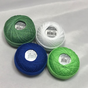 Solid Peppermint Green Color #687 FULL SPOOL Lizbeth Tatting Thread Size 20 or 40