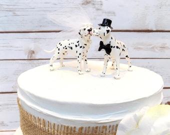 Dalmatian Dog Cake Topper | Wedding Cake Topper | We Do Too Pet Cake Decoration | Funny Animal Cake Topper | Fireman Wedding | Wedding Decor