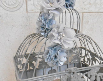 Gray Birdcage Wedding Card Holder | Wedding Card Box | Wedding Box | Gray Wedding | Silver Wedding | Wishing Well | Wishes Box