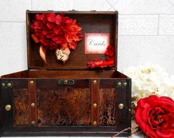 Large Fall Leaves Wedding Card Box | Wedding Card Holder | Wedding Suitcase | Wedding Trunk | Fall Wedding Decor