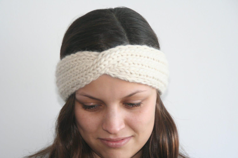 Twisted Turban Headband Knitting Pattern PDF
