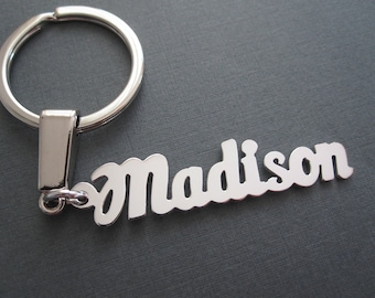 Personalized Name Keychain in 3 Colors - Custom Name Keychain - Custom Name Key  Ring - Custom Name Gift - Gift for Men - Gift for Him 68ab3e3dd