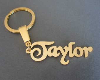 24940d42d5c8 Personalized Name Keychain - 3 Colors - Custom Name Keychain - Custom Name Key  ring - Wedding Party Favor - Gift for Men - Gift for Him