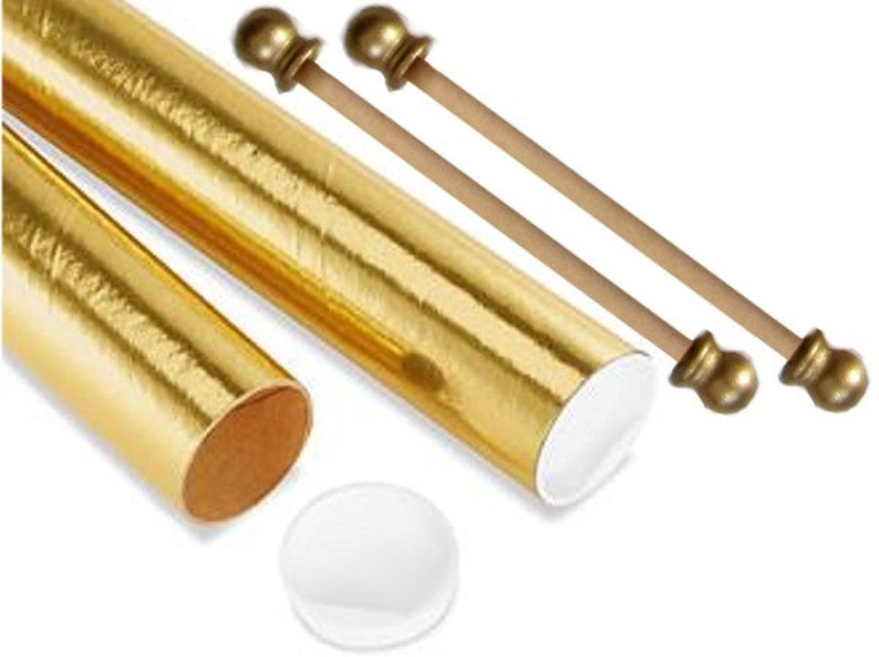 8 Inch Diy 50 Set Scroll Invitation Rods With Mailing Tubes Etsy