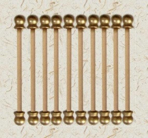 8 Inch Diy 50 Sets Scroll Invitation Rods Etsy