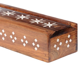 Takli Spindle In Wooden Box With Inlay Design