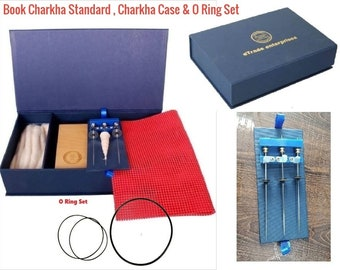 Book Charkha Standard Spinning Wheel Kit crafted in India.