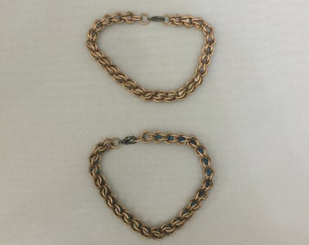 Small Copper Captured Stone Bracelet