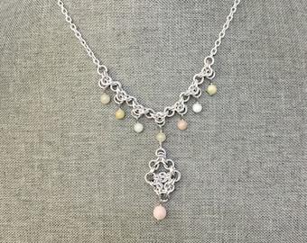 Multicolor Morganite Necklace