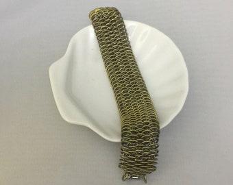 Brass & Steel Dragon Bracelet