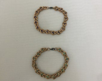 Copper Captured Stone Bracelet