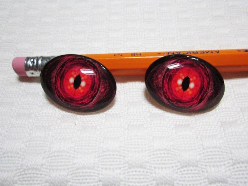 Roter Drachenaugen Gruselige Augen Roten Bösen Augen Ovalen Etsy