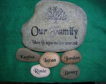 engraved rock etsy