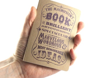 "Small Notebook ""Magnificent Book Of Brilliant, Astounding, Spectacular, Marvelous, Wondrous & Most Remarkable Ideas"""