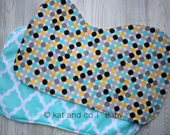 Set of 2 oversized burp cloths.  Ready to ship.