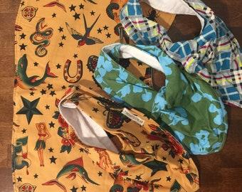 Clearance baby gift.  Burpcloth and bib set.