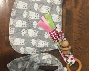 Clearance baby gift Burpcloth sure and teether