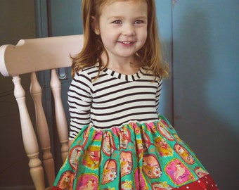 Girls holiday dress . Custom made sizes 6 months to 12.