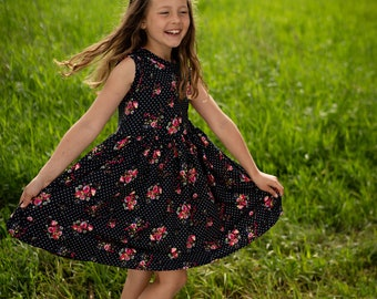 Girls super soft tank style knit dress.    Available girls 12 months to 10 years.