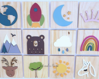 Mix and Match wood wall plaques/ tile.  Free shipping.