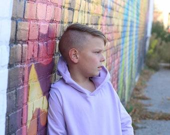 Baby, toddler, boys solid hooded sweatshirt. Custom made, many colors available.  Kangaroo pocket.