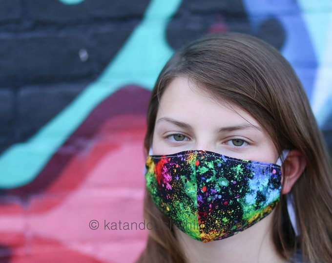 Featured listing image: Free and fast shipping face mask, 4 sizes:  kids to extra large.  Adjustable elastic band. Free shipping.