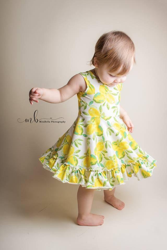 5cc1a9ba4781f Girls knit ballerina inspired lemon dress . Available girls 12 months to ...