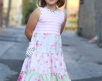 """Clearance size 18 months and 3t.  Girls  """"vintage rose"""" tank dress ."""