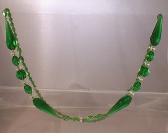 Stunning Green Glass Necklace