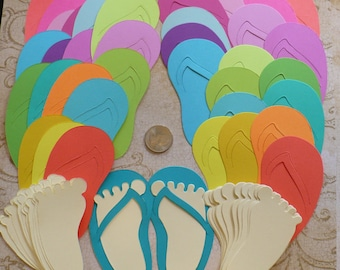1f95ff792cdb Die Cut Bright Flip Flop Feet Craft Birthday Party Shapes made from Brights  Cardstock Kid s Party Invitations and Crafts Do It Yourself