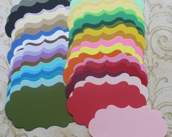 38 Die Cut pieces Made from Rainbow color cardstock paper DIY Labels Tags 4 Cards Shapes