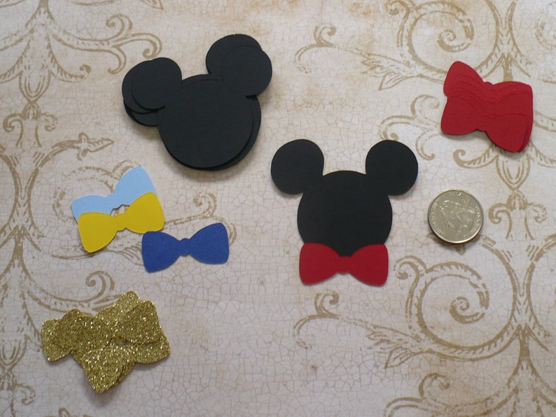Mickey Mouse Bow Tie Birthday Decorations 2.5 inch Ears Head image 0