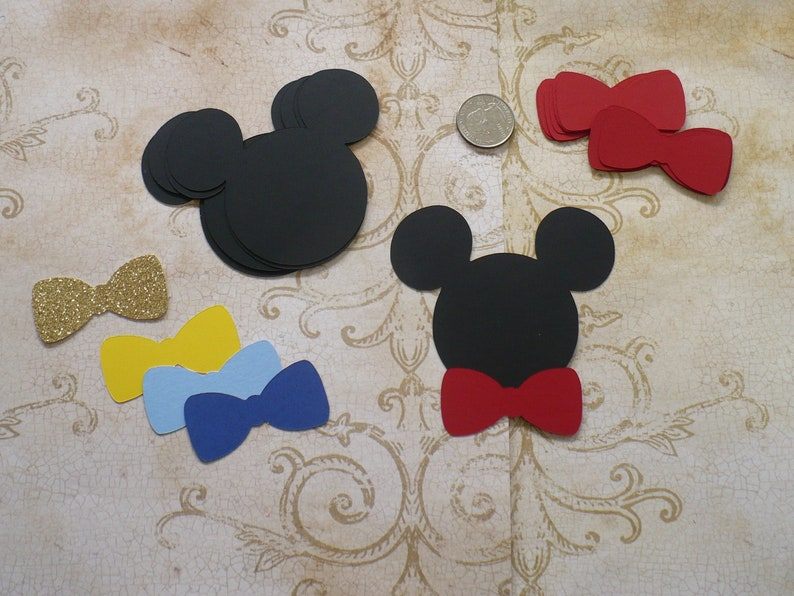 Mickey Mouse Bow Ties Birthday Decorations 3.5 inch Ears Head image 0