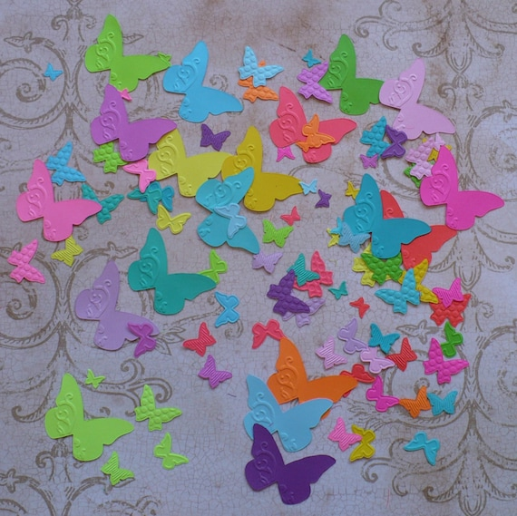 Stampin/' Up Assorted Colour BUTTERFLY Die Cut Punches 50