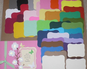 114 PC Shapes to Stamp or Layer Rainbow 3 Sizes Die Cut pieces Made from Rainbow color cardstock paper