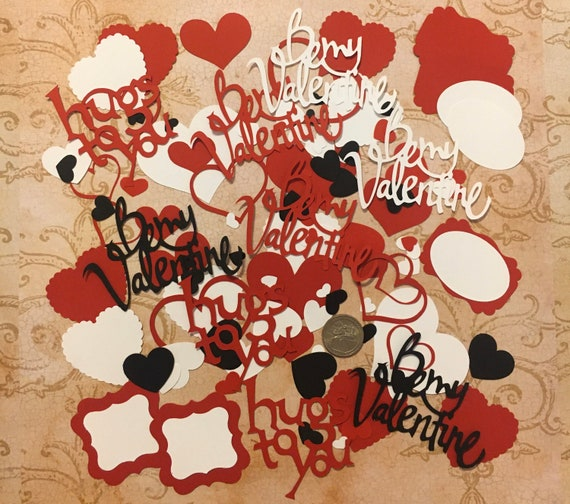 Valentines Premade Top Note Shapes from Stampin Up Die Cut Shapes Cardstock for DIY Cards Crafts Decorations Labels